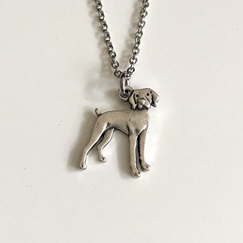 (Vizsla Dog Necklace - Weimaraner or German Shorthaired Pointer Dog Breed Jewelry - Gift for Dog Lover)