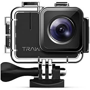 APEMAN Trawo Action Camera 4K WiFi Ultra HD 20MP Underwater Waterproof 40M Camcorder with 170 Degree Ultra-Wide Angle Panasonic Sensor EIS Stabilization Dual 1350 mAh Batteries
