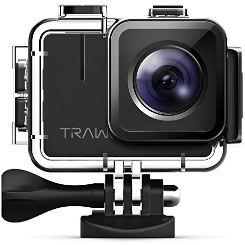 APEMAN TRAWO A100 Real 4K Action Camera WiFi 20MP Waterproof Camera Underwater 40M with EIS 2 inch IPS Screen and 2x1350mAh Batteries