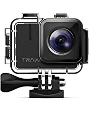 APEMAN Trawo Action Kamera 4K WiFi Ultra HD 20MP Unterwasser Wasserdicht 40M Camcorder mit 170 Grad Ultra-Weitwinkel Advanced Sensor EIS Stabilisierung Dual 1350 mAh Akkus