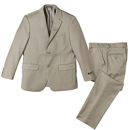 Spring Notion Big Boys' Two Button Suit Tan 07 Jacket and ()