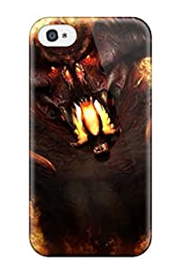David Jose Barton's Shop Cute Appearance Cover/tpu Beast On Fire Case For Iphone 4/4s
