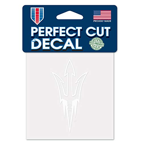 WinCraft NCAA Arizona State Sun Devils 4x4 Perfect Cut White Decal, One Size, Team Color