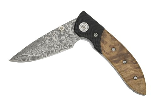 Coast C244501TH Knife Thuya/Kraton Damascus - Box Kraton