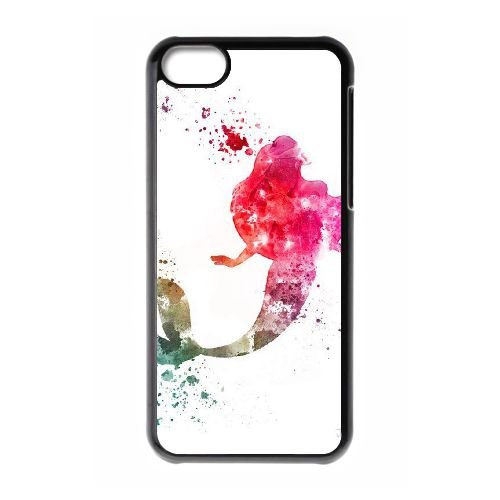 Disney Die kleine Meerjungfrau Ariel 004 iPhone 5c Handy-Fall Hülle schwarz S4B6JCFGQO