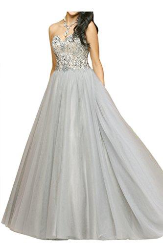 Promgirl House Damen 2016 Elegant Prinzessin A-Linie Herz-Ausschnitt Ballkleider Tanzen Abendkleider Lang