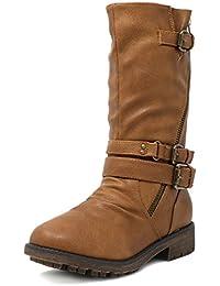 Girls Toddler/Little Kid/Big Kid Buckle Zipper Knee High Winter Boots