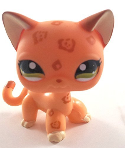 Littlest Pet Shop # 1120 Orange Leopard Cheetah (Replacement Figure) (Tin)