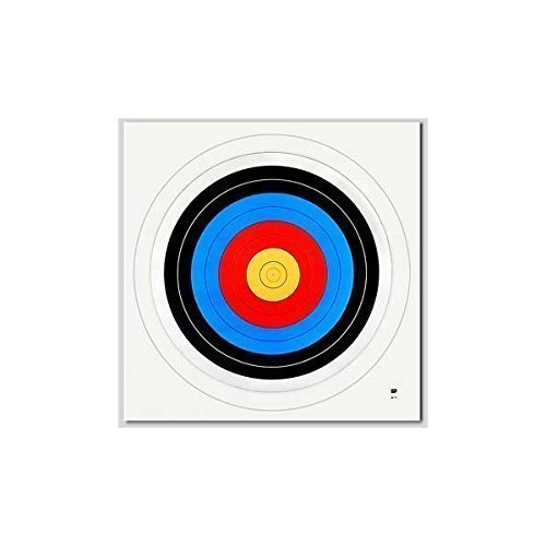 Pack of 10 Archery Target Faces - 60cm Unbranded