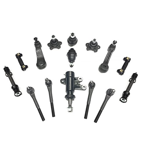 Gmc C2500 Suburban Pitman Arm (PartsW 15 Piece Suspension Steering Kit for CHEVROLET GMC C1500 SUBURBAN C2500 Tahoe Yukon Ball Joints, Adjusting Sleeve, Pitman & Idler Arm, All Tie Rod, Idler Bracket Sway Bar)