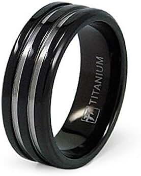8mm Black Titanium Ring (Sizes 8-12)