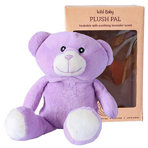 WILD BABY Microwave Plush Pal - Cozy Heatable Stuffed Animal with Lavender Scent, 10
