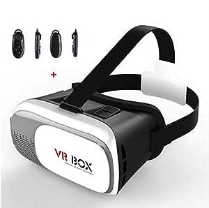 نظارة الواقع الافتراضي جوجل الاصدار الثاني للهواتف الذكية برؤية ثلاثية الابعاد من الكرتون المقوى وبجهاز تحكم يعمل بتقنية بلوتوث