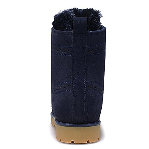 Worker Lining Martin Slip Boots Up Boots Shoes Winter Boots Warm Non Flat Womens Boots Waterproof Winter Blue Boots Mens Boots Shoes Outdoor Snow Unisex Boots Ankle Lace xqX6Y4g