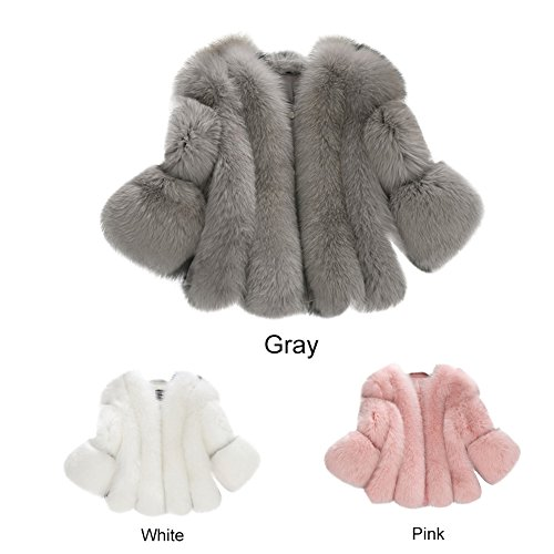 3 Blanc Fausse 4 Femme Hiver Fur Coat Blouson Manche Manteau Per Femme Fourrure Fourrure Veste Fourrure Femme 78Kqa4