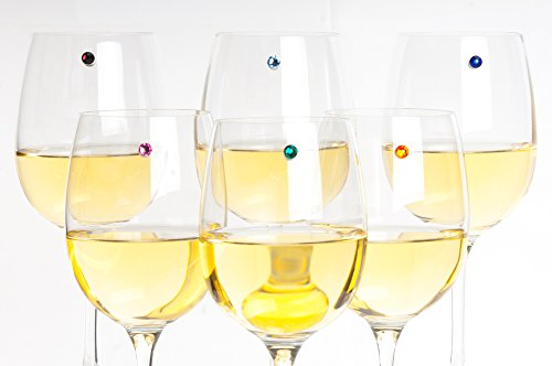 Swarovski Crystal Magnetic Wine Charms - Bundle of 3 Sets of 6 - Makes 18 Unique Glass Markers by Simply Charmed (Image #3)