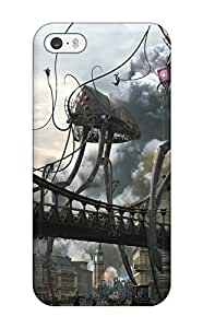 Iphone 5/5s Case Bumper Tpu Skin Cover For Attack Of The Alien Robots Accessories