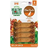 Nylabone Healthy Edibles Bacon Flavored Dog Treats | All Natural Grain Free Dog Treats Made In the USA Only | Small and Large Dog Chew Treats | 8 Count
