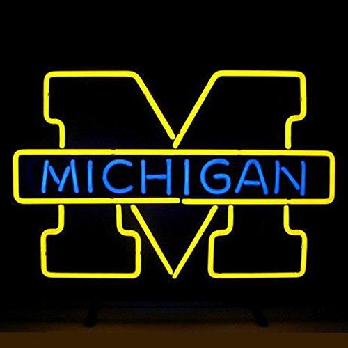 Michigan Man Cave Signs : Michigan neon sign wolverines