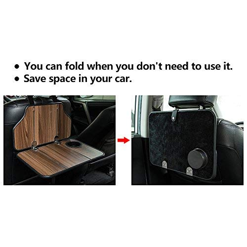 Laptop & Desktop Accessories Fms Multi-functional Car Back Seat Folding Table Wooden Portable Foldable Vehicl Outstanding Features