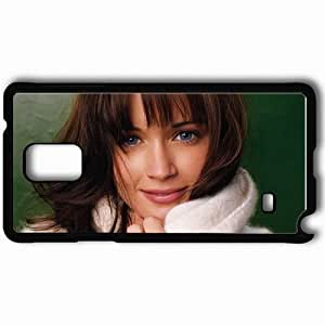 Personalized Samsung Note 4 Cell phone Case/Cover Skin Alexis bledel actresses famous for being star of the good guy and post grad and the conspirator Black