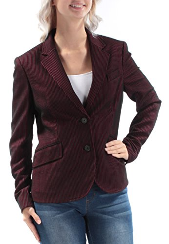 Anne Klein Women's Seersucker Stripe Jacket, Cordoba Red/Black, (Seersucker Stripe Jacket)