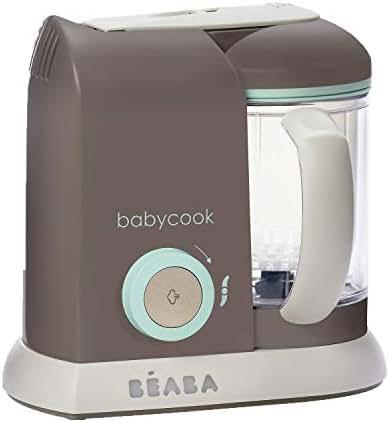 BEABA Babycook 4 in 1 Steam Cooker and Blender, 4.5 cups, Dishwasher Safe, Latte Mint