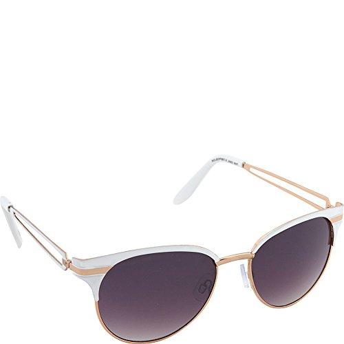 Jessica Simpson Women's J5402 WHT Non-Polarized Iridium Cateye Sunglasses, White, 55 - Jessica Sunglasses Simpson White