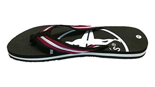 Größe Zehentrenner und 45 Strandschuhe Modischer 46 Flip Schwarz Herren Siebis Farbe Ben sportlicher qwg80x1