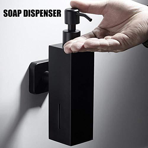 (LianLe-123 Black 304 Stainless Steel Wall Mounted Soap Dispenser Shower Gel Shampoo Hair Conditioner Bottle for Hotel Bathroom & Kitchen (200ML))