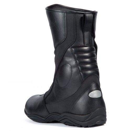 Black, Size 9 TourMaster Solution 2.0 Mens Cold-Weather WP Road Boots