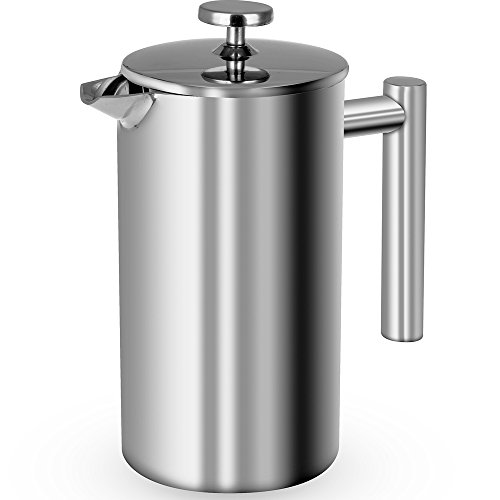 Best 304 Stainless Steel French Press, 8 Cup 1000ML 18/10 Stainless Steel 34oz Coffee Maker