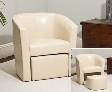 Awesome Sofa Collection Brand New Tub Chair With Matching Footstool/Armchair  Seating, Faux Leather,