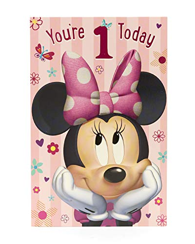 Amazon.com: Minnie Mouse - Youre 1 Today - Birthday Card ...