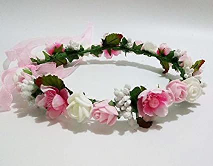 Amazon hippy decorative pe foam rose flower girl crown flowers hippy decorative pe foam rose flower girl crown flowers headband wreath garland floral headpieces hippie wedding mightylinksfo