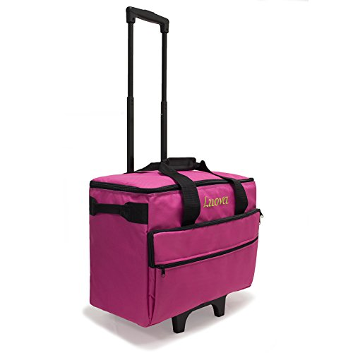Luova 19″ Rolling Sewing Machine Trolley in Pink