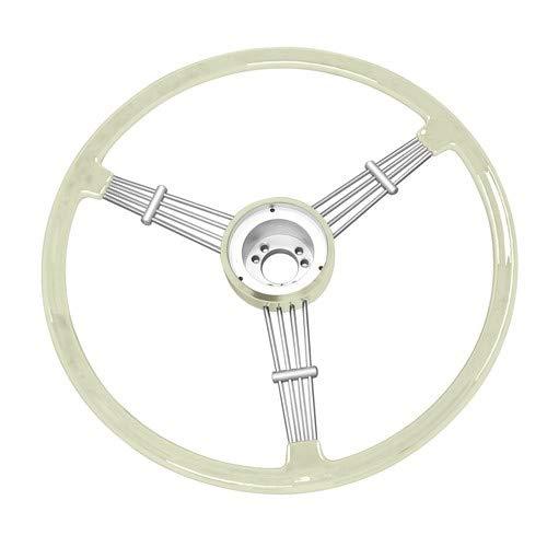 Empi Wheel - Empi Banjo Style Vintage Steering Wheel Kit, Silver/Grey