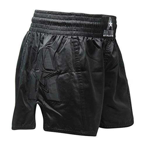 Anthem Athletics Infinity G2 Muay Thai Shorts - Kickboxing, Thai Boxing - Black G2 - Large