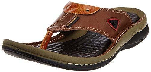 Tan Leather Flip Flops Thong Sandals