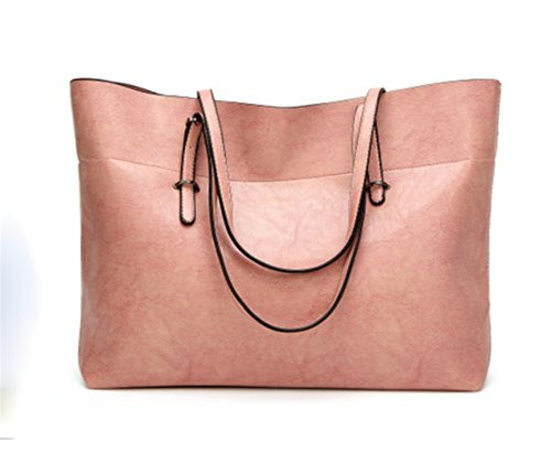 BAO Bolsos Femeninos Bolsos Bolsos de Hombro Bolsos Crossbody Oilskins Moda Para Mujer Simple, green Pink