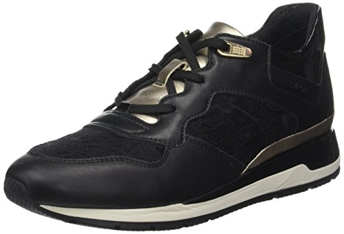 Geox B Black Sneakers Femme Noir Shahira Basses RpSRr1wq6