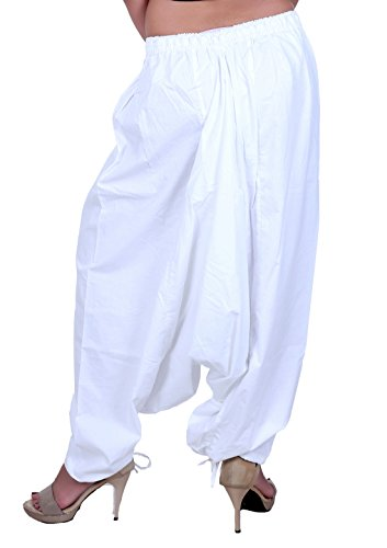 Sarjana Handicrafts - Pantalón - para mujer blanco