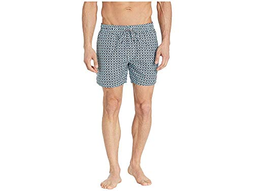 Ted Baker Men's Hermit Mid Geo Shorty Swim Shorts Turquoise 6