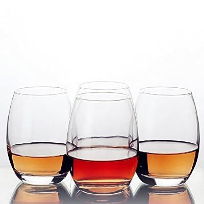 Liguan 14 Ounce Stemless Wine Glass Set, Set of