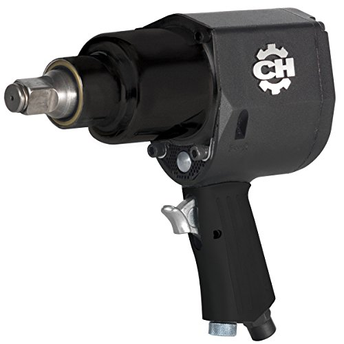 Air Impact Wrench - Heavy-Duty Pin Clutch 3/4-Inch Impact Driver w/ Hardened Steel Body and Soft Grip (Campbell Hausfeld (Soft Grip Air)