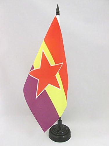 AZ FLAG Bandera de Mesa ESPAÑA Republicana Estrella del EJÉRCITO Popular 21x14cm - BANDERINA de DESPACHO DE LA Republica ESPAÑOLA 14 x 21 cm: Amazon.es: Hogar