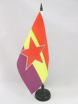 AZ FLAG Bandera de Mesa ESPAÑA Republicana Estrella del EJÉRCITO ...