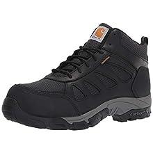 Carhartt Men's Lightweight Wtrprf Mid-Height Work Hiker Carbon Nano Safety Toe CMH4481 Industrial Boot, Black Leathe/Nylon, 9.5 M US