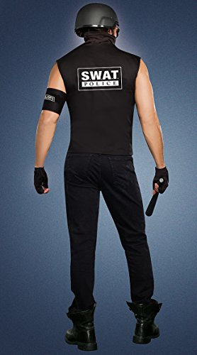 Dreamgirl Men's Special Ops Costume, Black, Medium for $<!--$36.89-->