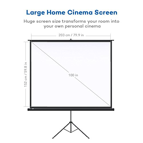 Projector Screen with Stand, TaoTronics Indoor and Outdoor Movie Screen 100 Inch Diagonal 4:3 with a Premium PVC Matte Design (Wrinkle-Free, Easy to Clean, 1.1 Gain, 160 Degree Viewing Angle) Photo #3